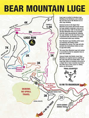 Loup Loup Ski Bowl • Bear Mountain Luge Map