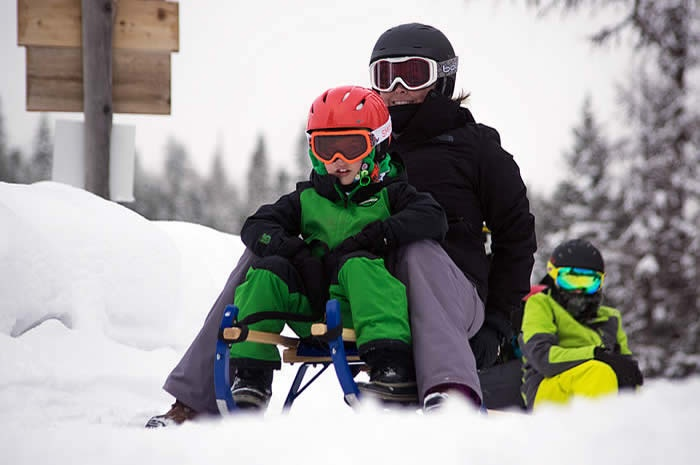 Loup Loup Bear Mountain Luge • Mom and child sledding