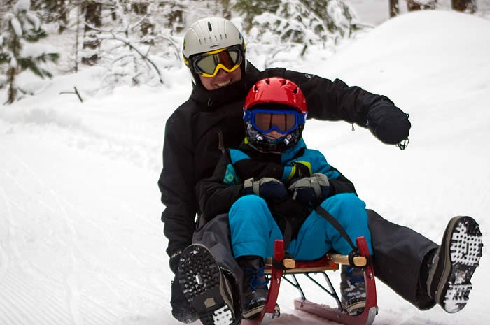 Loup Loup Bear Mountain Luge • Parent and child sledding