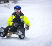 Loup Loup Bear Mountain Luge • Woman Sledding