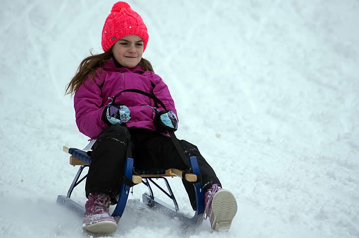 Loup Loup Bear Mountain Luge • Girl sledding