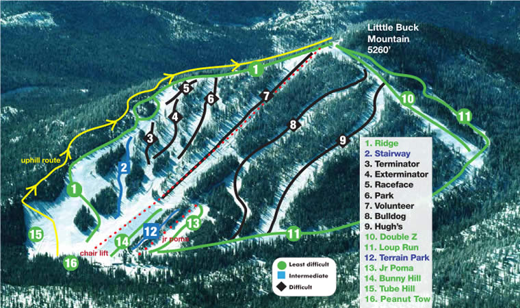 Loup Loup Ski Bowl Alpine Trails
