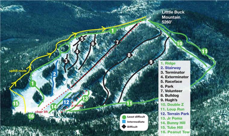 Loup Loup Ski Bowl Alpine Trails